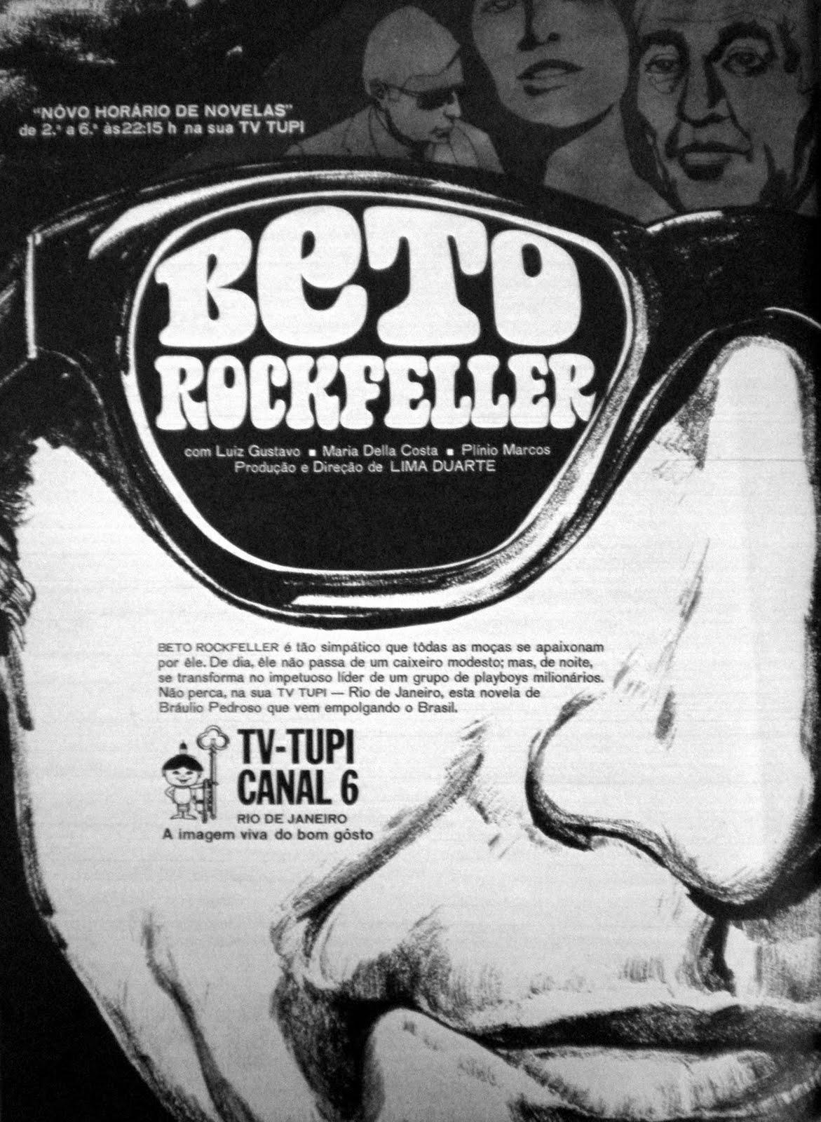 """Resultado de imagem para Na TV Tupi o sucesso era a novela """"Beto Rockfeller"""""""