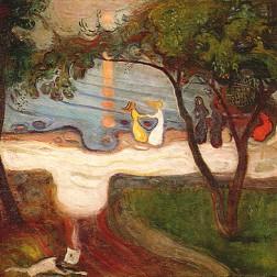 """""""Dança na praia"""", 1900-02"""