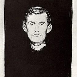 """""""Autorretrato com braço de esqueleto"""", 1895"""