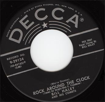 "Bill Haley and His Comets gravam ""Rock Around the Clock"""