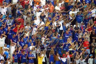 Festa da torcida azul nas semifinais