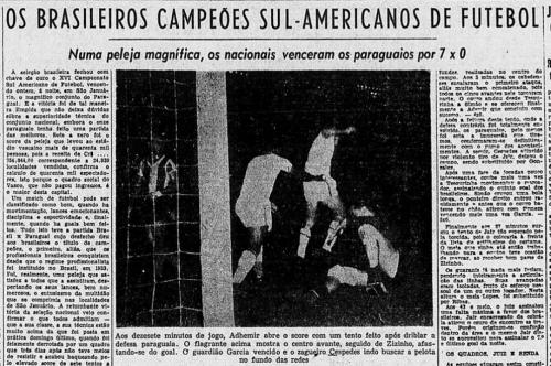 Brasil é campeão do Sul-Americano de Futebol
