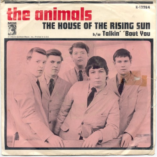 "The Animals gravam ""The House of The Rising Sun"""