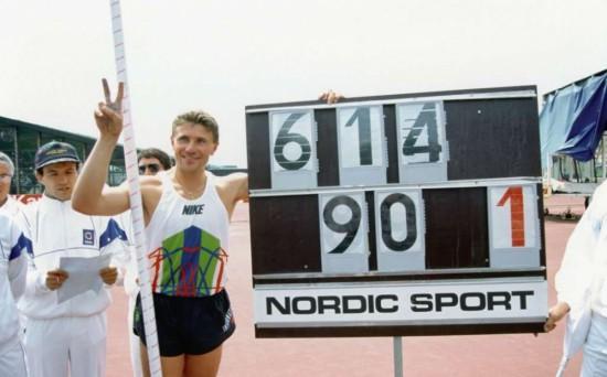 Sergey Bubka crava o último recorde da carreira