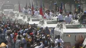 Jogadores desfilam em Porto Príncipe