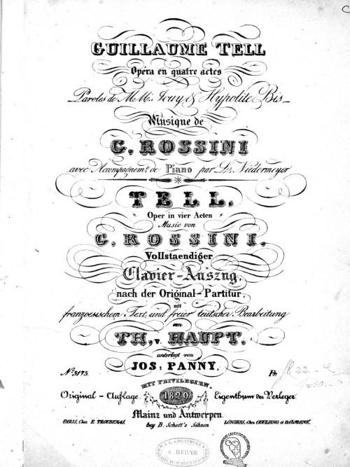 "Rossini apresenta ""Guilherme Tell"", sua última ópera"