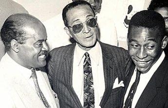Três gerações de craques: Leônidas da Silva, Friedenreich e Pelé