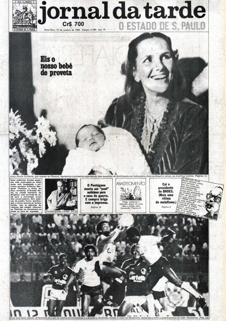 Nasce o primeiro bebê de proveta do Brasil