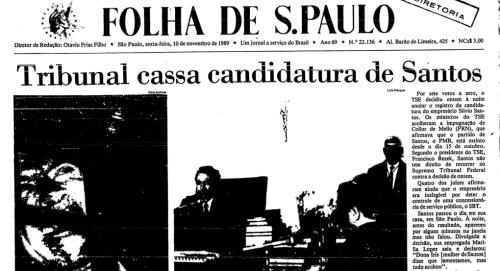Candidatura de Silvio Santos é cassada pelo TSE