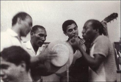 No Zicartola, com Anescarzinho do Salgueiro, Jair do Cavaquinho e Paulinho da Viola
