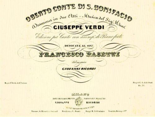 Primeira ópera de Verdi estreia em Milão