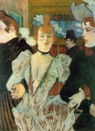 """La Goulue arriving at the Moulin Rouge"" (1892)"
