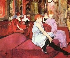 """""""Salon at the Rue des Moulins"""" (1894)"""