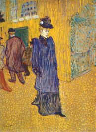 """""""Jane Avril leaving the Moulin Rouge"""" (c. 1892)"""