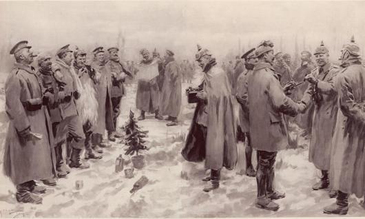 A trégua de Natal durante a Primeira Guerra