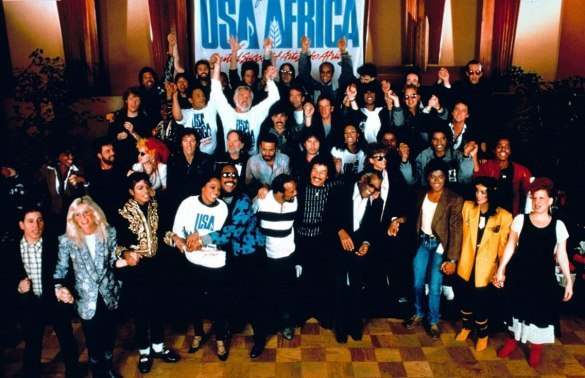 "A gravação de ""We Are The World"""