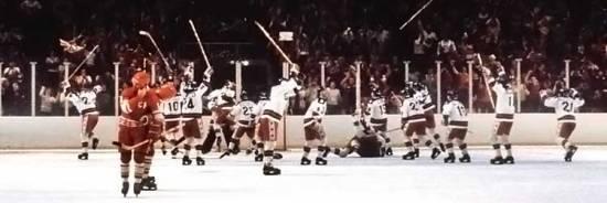 "EUA vence URSS no hóquei, no ""Miracle on Ice"""