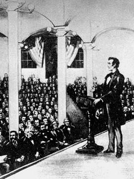 Lincoln discursa na Cooper Union, em Nova York