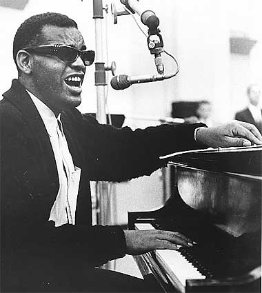 "Ray Charles grava ""Georgia on My Mind"""