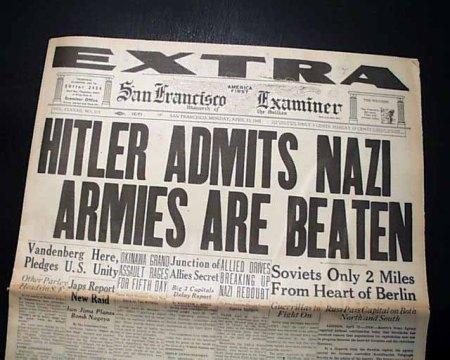 Hitler admite a derrota na Segunda Guerra Mundial