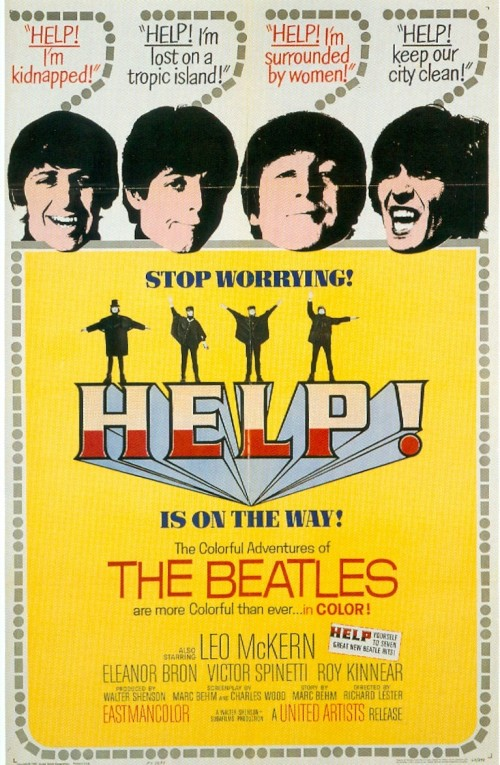 """Beatles lançam o filme """"Help!"""" em Londres"""
