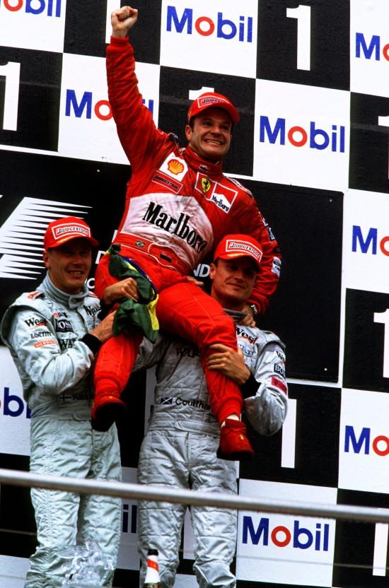 Rubens Barrichello conquista a 1ª vitória na F1