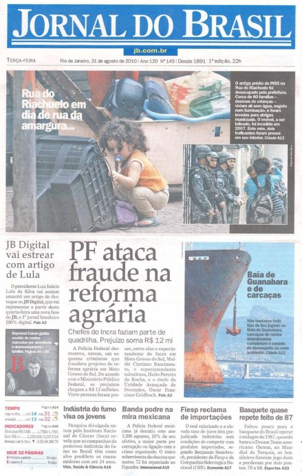 Jornal do Brasil tem última edição impressa