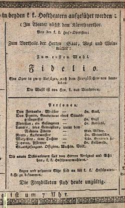 """""""Fidelio"""", única ópera de Beethoven, estreia em Viena"""