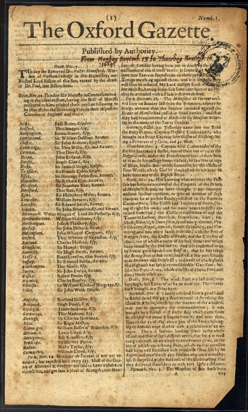 The London Gazette, 350 anos