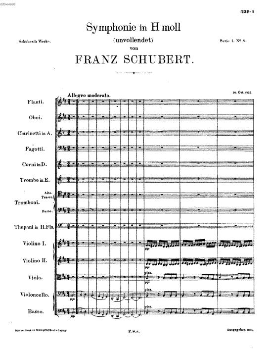 Sinfonia nº 8, de Schubert, estreia em Viena