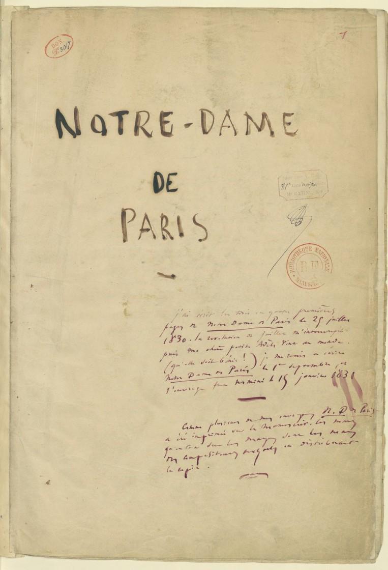 Victor Hugo termina O Corcunda de Notre-Dame