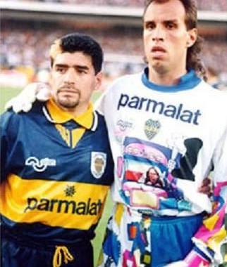 Com Maradona!