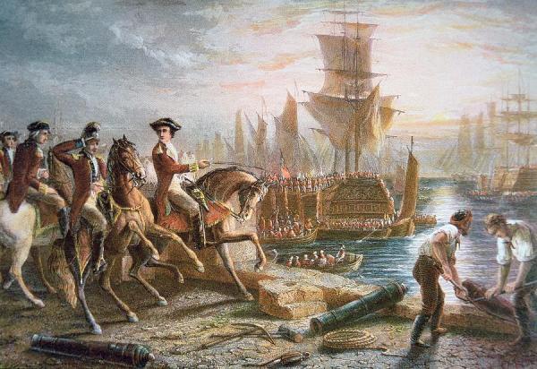 Com saída das tropas britânicas, termina o Cerco de Boston