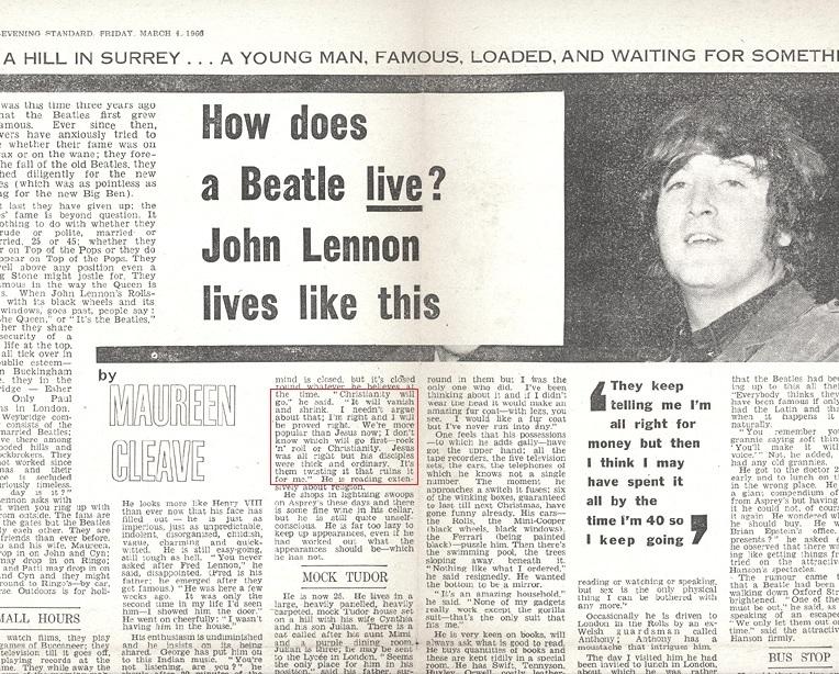 John Lennon, os Beatles e Jesus Cristo