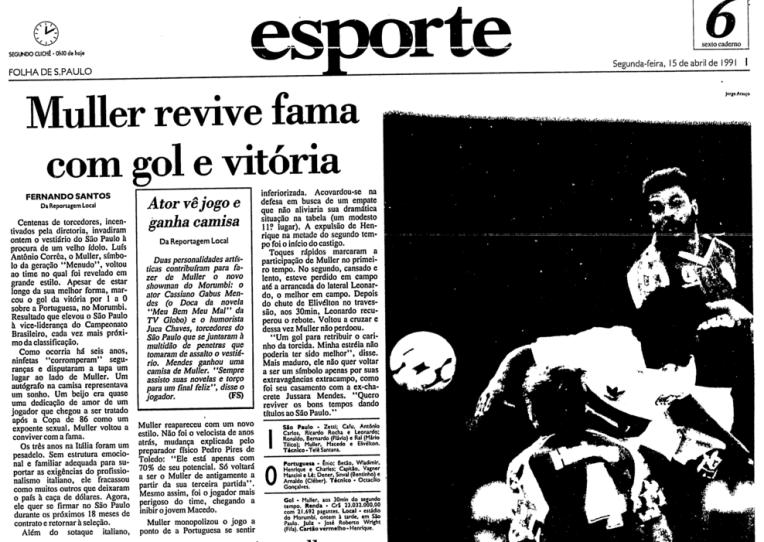 Na reestreia, Muller marca o gol da vitória do São Paulo