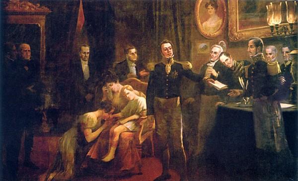Dom Pedro I abdica do trono