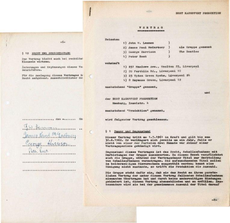 Beatles assinam o primeiro contrato da carreira