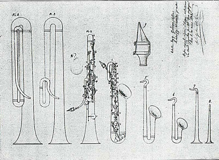 Adolphe Sax consegue a patente do saxofone