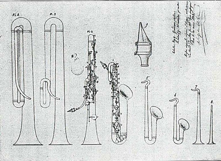 Adolphe Sax consegue a patente do saxofone