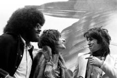 Com Ronnie Wood e Keith Richards