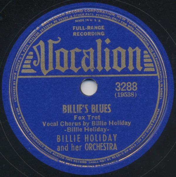 """Billie Holiday grava """"Billie's Blues"""", sua primeira composição"""
