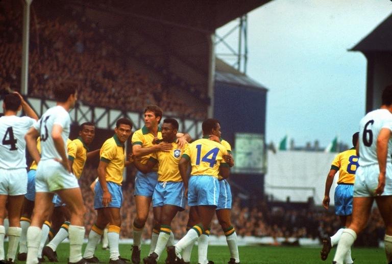 O último jogo de Pelé e Garrincha pela seleção brasileira