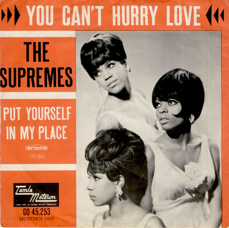 "Supremes lançam single ""You Can't Hurry Love"""
