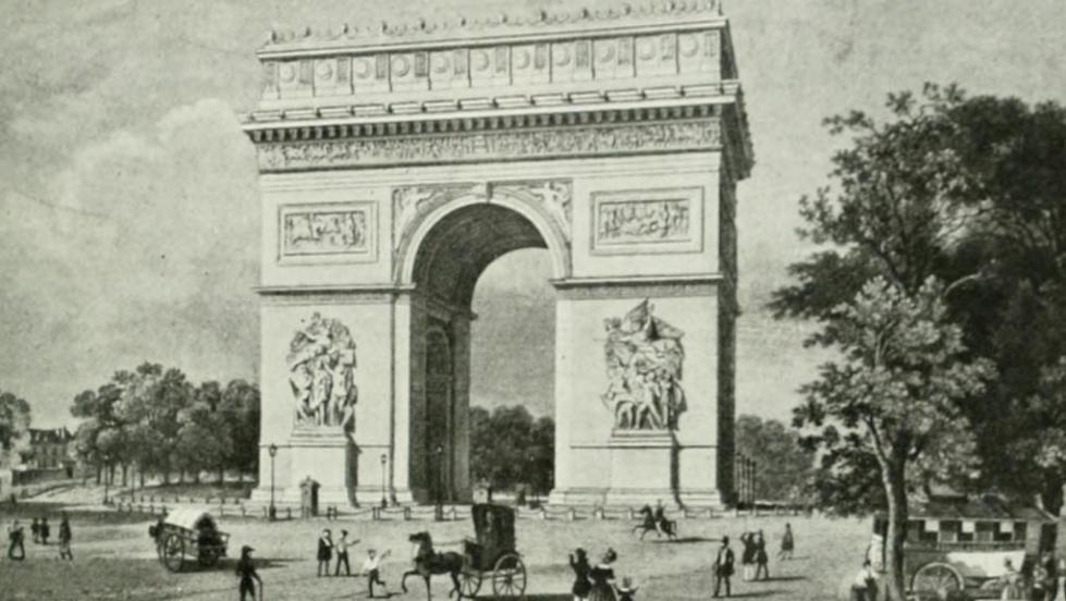 Arco do Triunfo é inaugurado em Paris