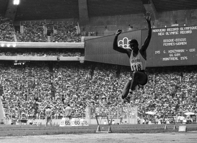 João do Pulo conquista o bronze na Olimpíada de Montreal