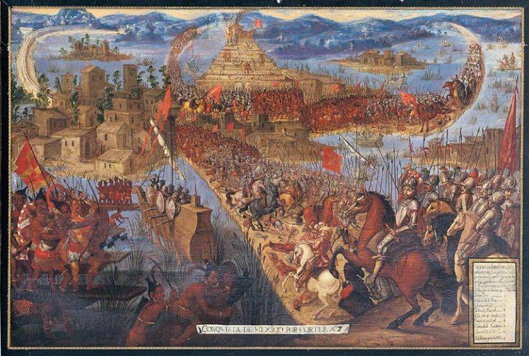 Império Asteca é dominado pelos espanhóis