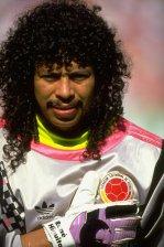 Com a camisa da Colômbia na Copa de 90