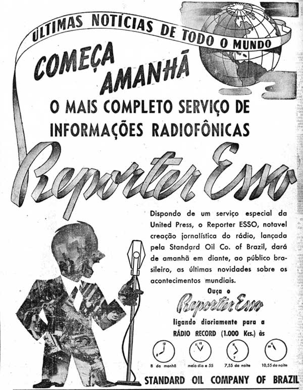 Repórter Esso estreia no rádio brasileiro