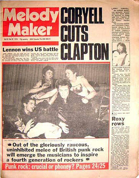 Melody Maker coloca o Sex Pistols na capa pela primeira vez