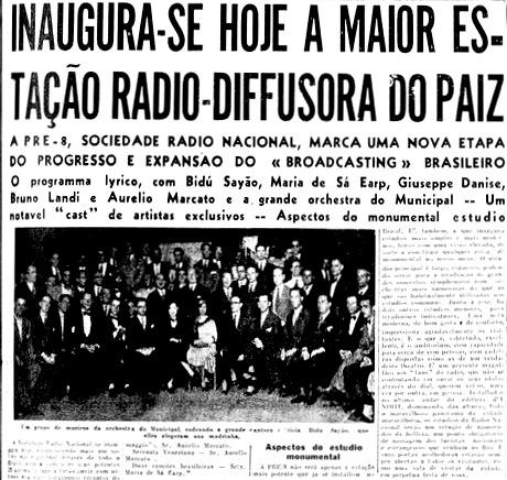 Rádio Nacional entra no ar no Rio de Janeiro